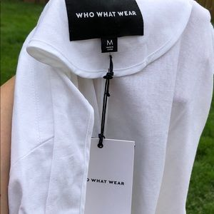 Who What Wear Jackets & Coats - Who What Wear White Linen Belt Tie Blazer M NWT